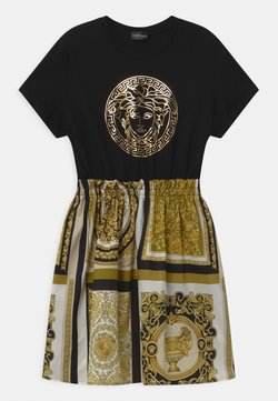 Versace - UNITED PATCHWORK HERITAGE PRINT - Jerseykleid - black/gold/white