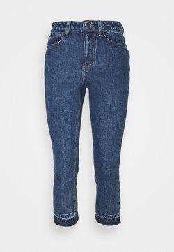 Object Petite - OBJCONNIE CROPPED - Jeans Slim Fit - dark blue denim