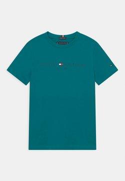 Tommy Hilfiger - ESSENTIAL LOGO UNISEX - T-shirt print - breakaway teal