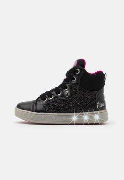 Geox - DISNEY FROZEN SKYLIN GIRL - Sneakers hoog - black/fuchsia