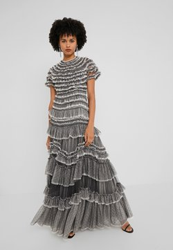 Needle & Thread - WILD ROSE RUFFLE GOWN - Abito da sera - graphite/champagne