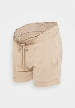 Pieces Maternity - PCMNEORA FRILL - Shorts - warm taupe