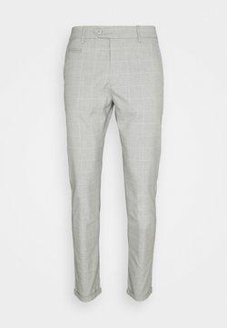 Les Deux - COMO CHECK SUIT PANTS - Stoffhose - grey melange/offwhite