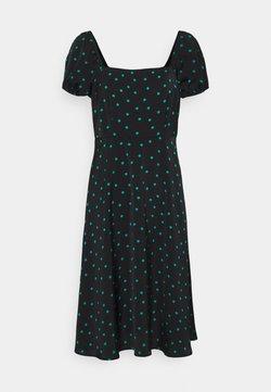 Even&Odd Petite - Vestido largo - black/green