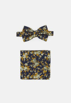 Burton Menswear London - FLORAL BOWTIE AND HANKIE SET - Fliege - navy