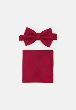 Burton Menswear London - PAISLEY BOWTIE AND HANKIE SET - Fliege - red