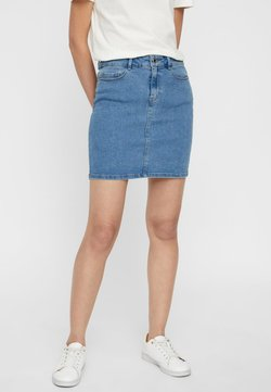 Vero Moda - VMHOT SEVEN SKIRT - Jeansrock - light blue denim