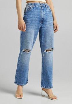 Bershka - Jeans Straight Leg - dark blue