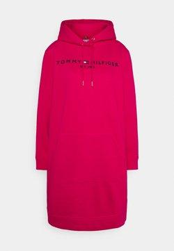 Tommy Hilfiger - REGULAR HOODIE DRESS - Freizeitkleid - bright jewel
