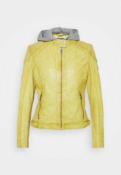 Gipsy - ABBY - Leren jas - pastel yellow