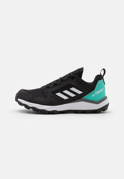 adidas Performance - TERREX AGRAVIC - Zapatillas de trail running - core black/crystal white/acid mint