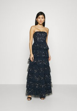 Maya Deluxe - EMBELLISHED STRAPLESS TIERED MAXI DRESS - Robe de cocktail - navy