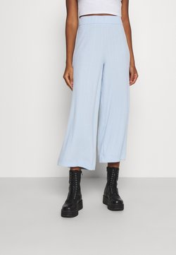 Monki - CILLA TROUSERS - Kangashousut - blue