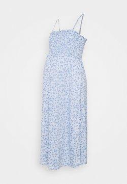 Cotton On - MATERNITY SHIRRED BODICE MIDI DRESS - Jerseyklänning - authentic blue