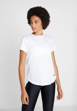Under Armour - SPORT CROSSBACK - Camiseta estampada - white/black
