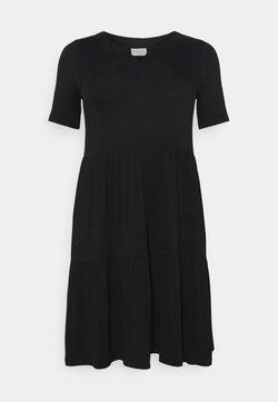 Kaffe Curve - PRELLA DRESS - Jersey dress - black deep
