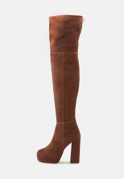 Even&Odd Wide Fit - LEATHER - High Heel Stiefel - rust