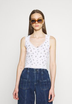 BDG Urban Outfitters - LOLA TRIM DITSY - Top - white