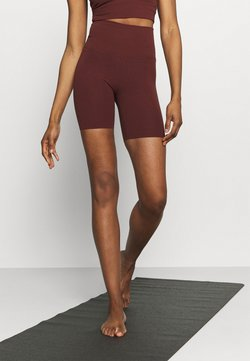 Nike Performance - YOGA LUXE SHORT - Tights - bronze eclipse/smokey mauve