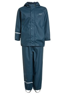 CeLaVi - RAINWEAR SUIT BASIC SET WITH FLEECE LINING - Regnbyxor - iceblue