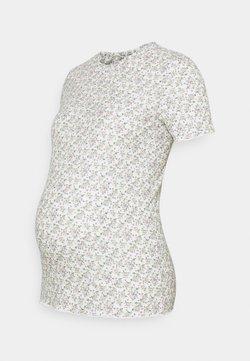 MAMALICIOUS - MLASTRID - T-Shirt print - snow white