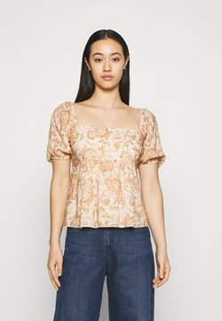 Forever New - EVIE BABY DOLL SQUARE NECK BLOUSE - T-shirt con stampa - valencia