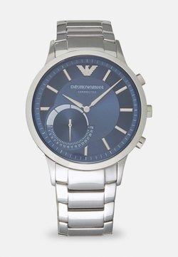 Emporio Armani Connected - RENATO CONNECTED - Montre à aiguilles - silver-coloured/blue
