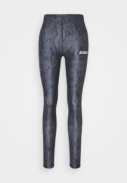 Guess - LEGGINGS - Collants - grey/black