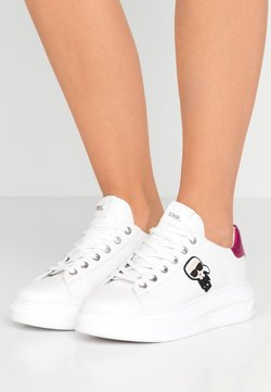 KARL LAGERFELD - KAPRI IKONIC LACE - Sneaker low - white/pink