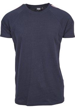 Urban Classics - STRIPE SHOULDER RAGLAN - T-Shirt print - navy/fire red/white