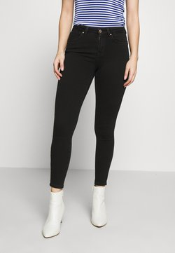 ONLY Petite - NLPOWER MID PUSH UP  - Jeans Skinny Fit - black