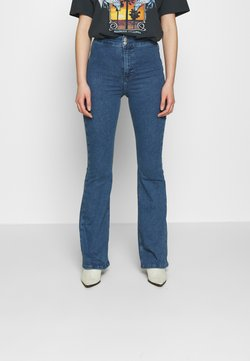 Topshop - ZED JONI - Flared Jeans - blue denim