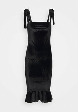 Missguided - TIE STRAP MIDI DRESS - Shift dress - black