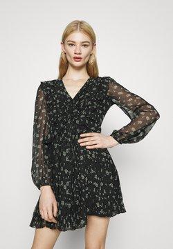 Miss Selfridge - PLEATED MINI - Freizeitkleid - black