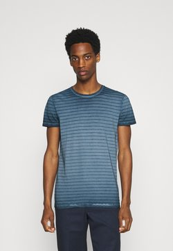 Marc O'Polo - SHORT SLEEVE ROUND NECK AMERICAN SHOULDER - T-Shirt print - total eclipse