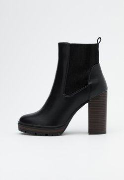 ONLY SHOES - ONLTAYA STACKED BOOT - Enkellaarsjes met hoge hak - black