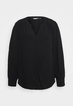 MY TRUE ME TOM TAILOR - BLOUSE STRUCTURED DOBBY - Bluse - deep black