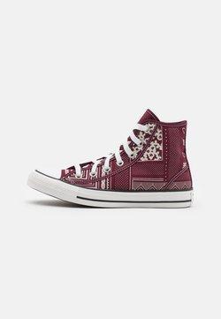 Converse - CHUCK TAYLOR ALL STAR UNISEX - Zapatillas altas - deep bordeaux/vintage white/black