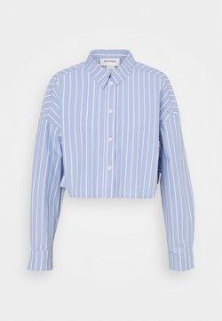 Monki - KELIS CROPED  - Bluse - blue dusty light stripe