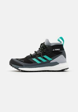 adidas Performance - TERREX FREE HIKER GORE-TEX - Hikingschuh - core black/active mint/hi-res yellow