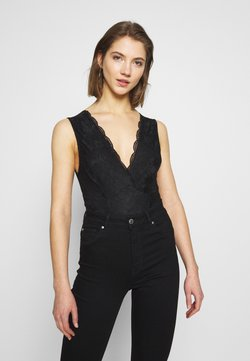 New Look - GO BUILT UP BODY - Bluse - black