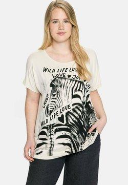 Sheego - T-Shirt print - beigefarben