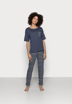 Marks & Spencer London - STRIPE - Pyjama - navy mix