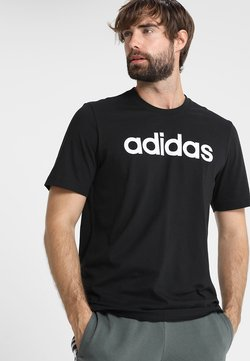 adidas Performance - LIN TEE - T-Shirt print - black/white