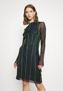 Diesel - D VINA DRESS - Sukienka letnia - black/lemon