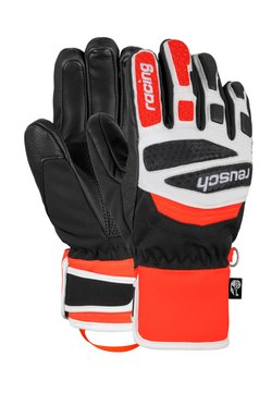 Reusch - Fingerhandschuh - black/white/fluo red
