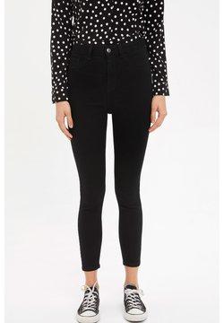 DeFacto - DEFACTO WOMAN SLIM FIT BLACK - Slim fit jeans - black