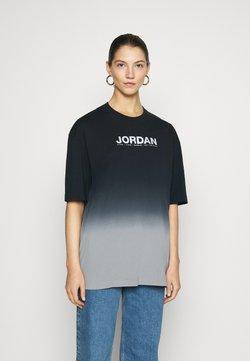 Jordan - OVERSIZE TEE - Print T-shirt - particle grey/black