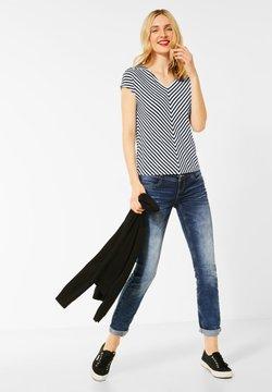 Street One - T-SHIRT MIT STREIFEN - T-Shirt print - blau