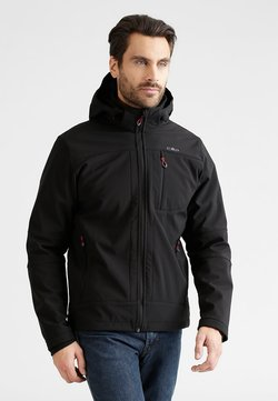 CMP - MAN JACKET ZIP HOOD - Softshelljacke - nero